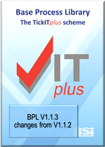 Picture of TickITplus Base Process Library V1.1.3 list of changes front page art